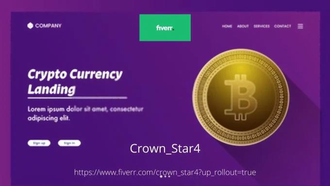 I will setup crypto landing page, crypto logo, crypto website, FiverrBox