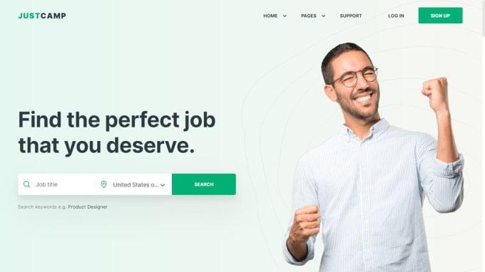 I will design job board website, job board website, job board, job, FiverrBox