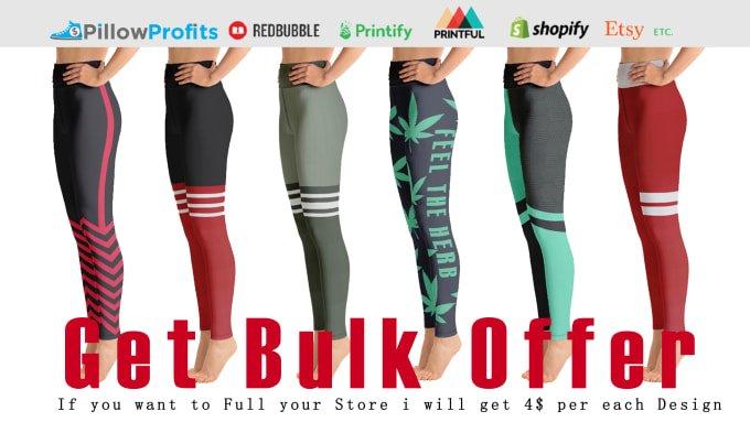I will do bulk offer for leggings, capris, pants, tops, shorts, FiverrBox