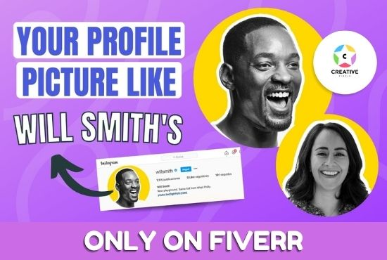 I will make your cool looking profile picture like will smith, FiverrBox