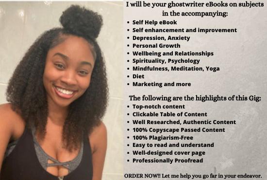 I will ghostwrite self help, self help book, self help ebook, ebook, FiverrBox