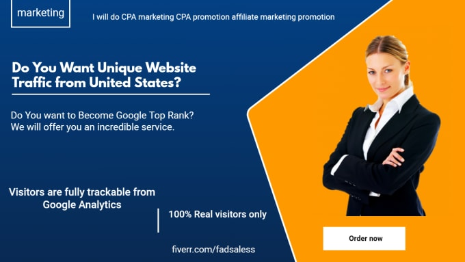 I will do CPA marketing CPA promotion affiliate marketing promotion, FiverrBox