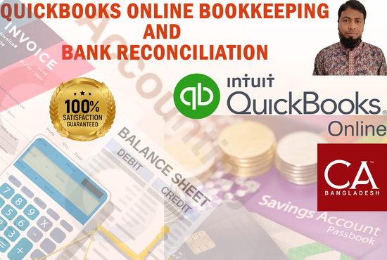 I will I will do quickbooks online bookkeeping and bank reconciliation, FiverrBox