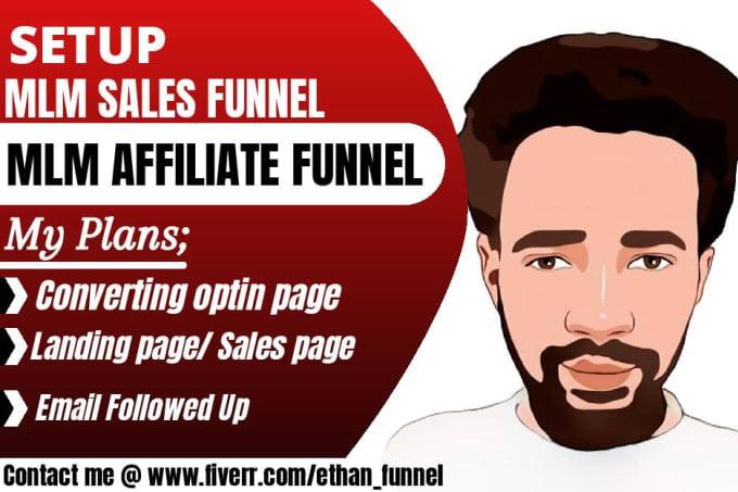 I will setup mlm sales funnel,sales funnel for mlm,mlm affiliate sales funnnel, FiverrBox