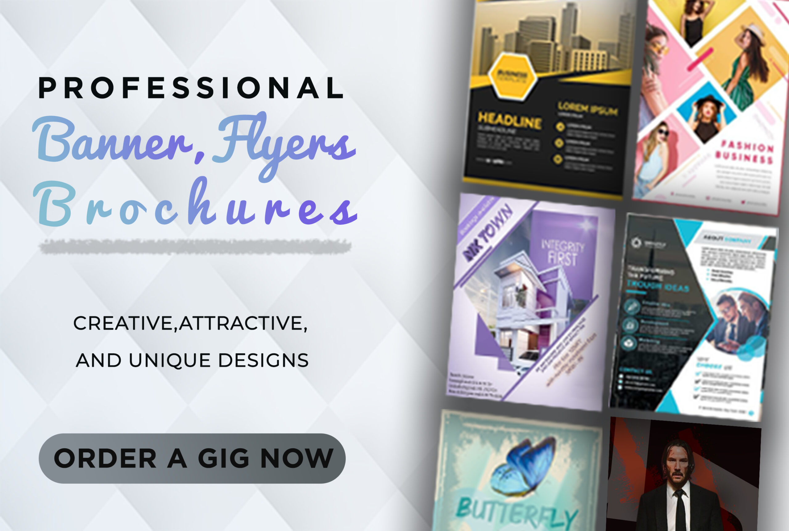 I will design flyers, banners and brochures, FiverrBox