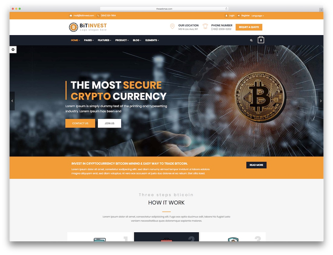 I will develop bitcoin investment website, FiverrBox
