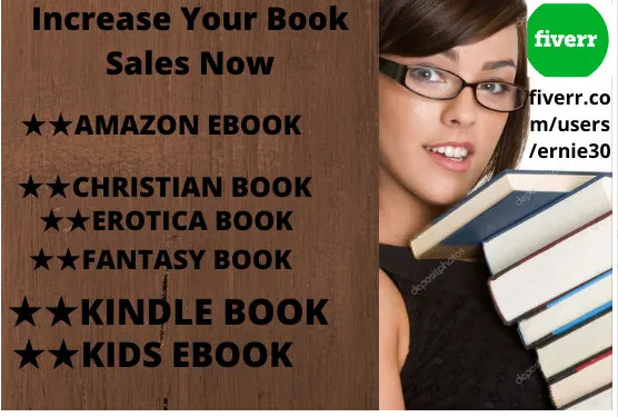 I will do organic ebook promotion, amazon kindle book, christian book, FiverrBox