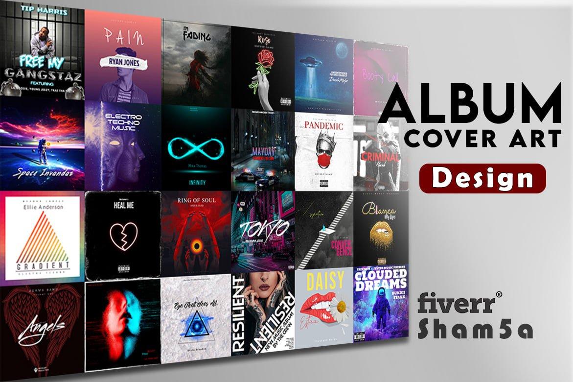 I will design unique album cover , single cover art, mixtape, FiverrBox