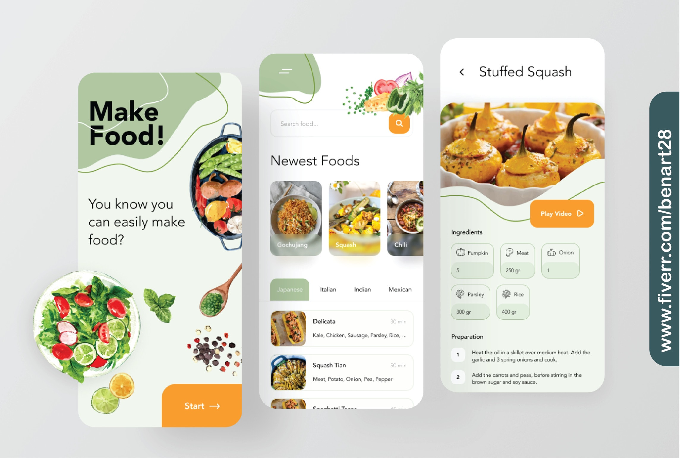 I will create UI UX design for both website and mobile application, FiverrBox