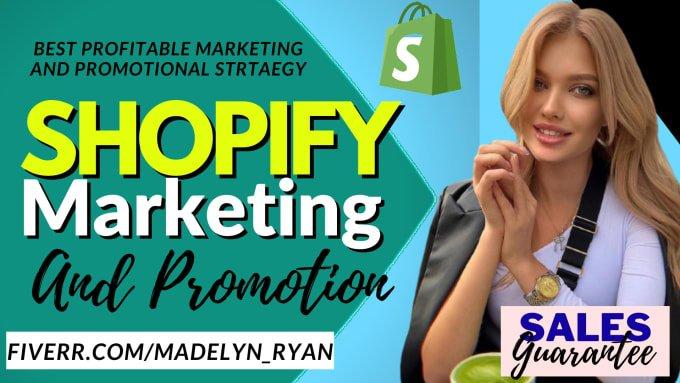 I will do ROI shopify store sales ecommerce marketing klaviyo shopify promotion, FiverrBox