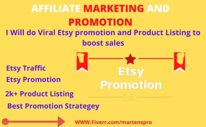 I will do etsy SEO and etsy shop promotion by tag listing, FiverrBox