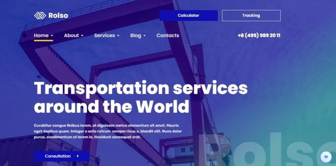 I will design a responsive logistic website, trucking website, cargo website, freight website, FiverrBox