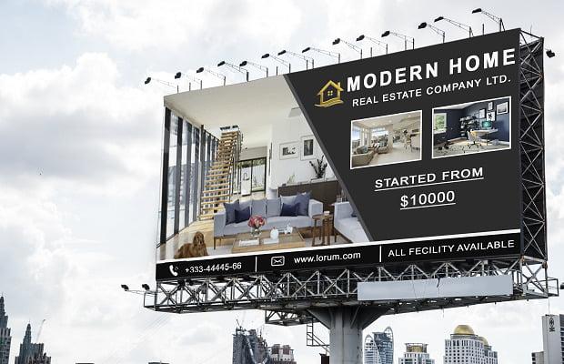 I will design a billboard, yard sign, signage, or signboard, FiverrBox