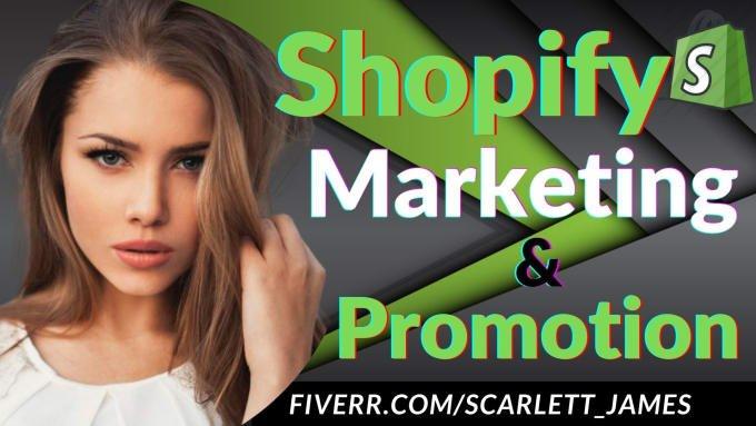 I will roi sales ecommerce shopify marketing shopify promotion amazon traffic, FiverrBox