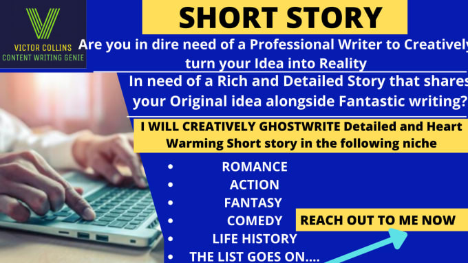 I will write a Unique and Engaging Short story, short stories, fiction, fantasy writing, FiverrBox